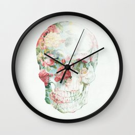 Skull Bouquet Wall Clock