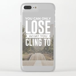 Freedom Is Letting Go Clear iPhone Case