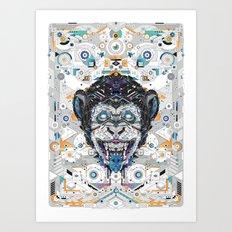 electro monkey Art Print