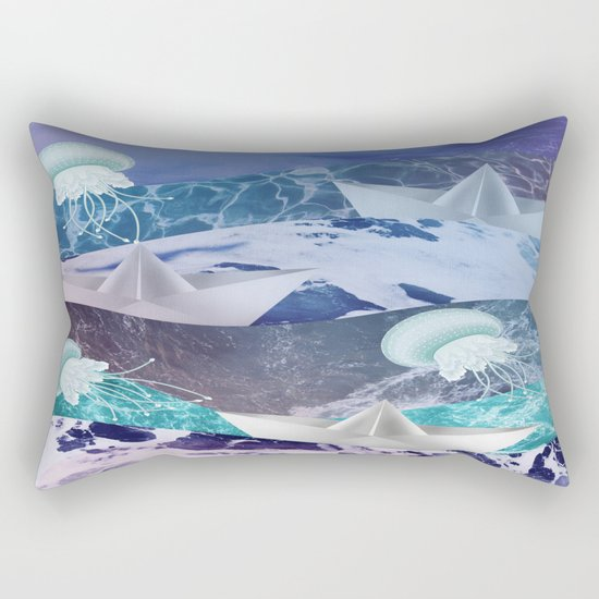 Stormy sea Rectangular Pillow