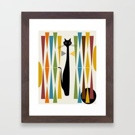 Mid-Century Modern Art Cat 2 Framed Art Print