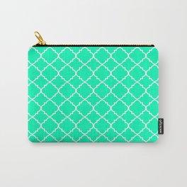 Mint Moroccan Quatrefoil Carry-All Pouch