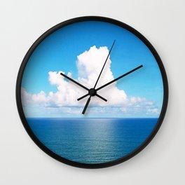 White Cloud Horizon - Tropical Horizons Series Wall Clock