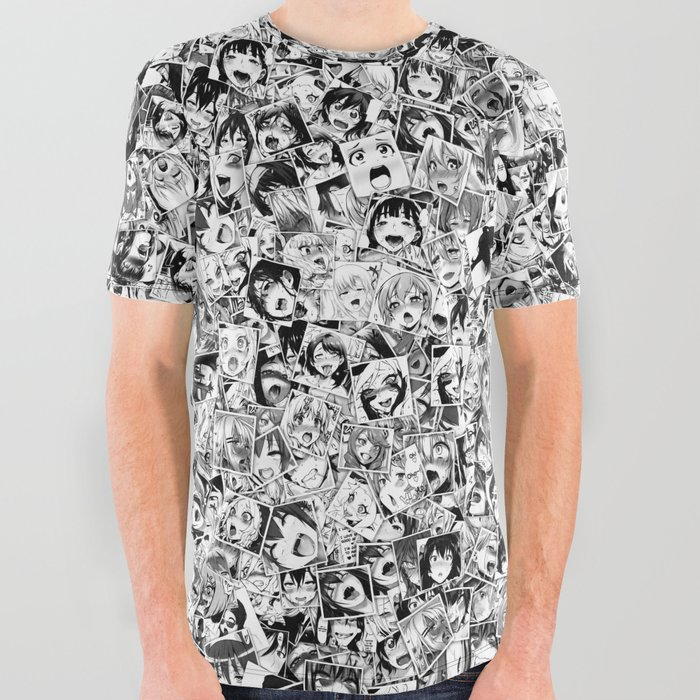 Ahegao All Over Graphic Tee