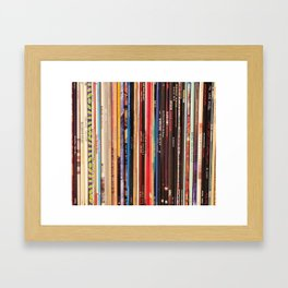 Indie Rock Vinyl Records Framed Art Print