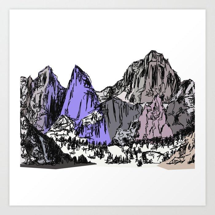 Mt Whitney Kunstdrucke