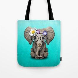 Cute Baby Elephant Hippie Tote Bag