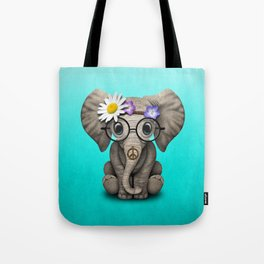Cute Baby Elephant Hippie Tote Bag