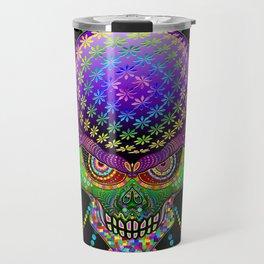 Crazy Skull Psychedelic Explosion Travel Mug
