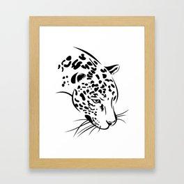 Jaguar head Framed Art Print