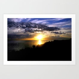 Sunrise over Port Philip Bay - Melbourne Art Print