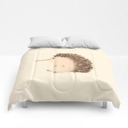 Happy Hedgehog Sketch Comforters