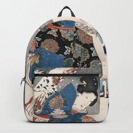 Japanese Vintage Kunisada Hiroshige Snowy Landscape Backpack