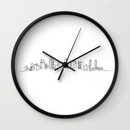San Diego Skyline Drawing Wall Clock