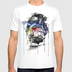 Howl's Moving Castle MEDIUM White Mens Fitted Tee