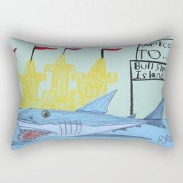 Bullshark Island Rectangular Pillow
