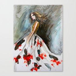 Big Flower Skirt Canvas Print