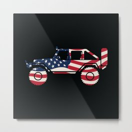 American Patriotic Off Road 4x4 Metal Print