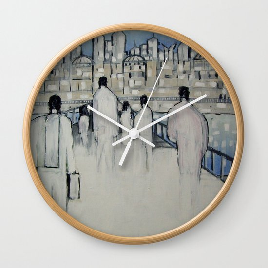 foot traffic 02 Wall Clock