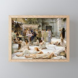 Lawrence Alma-Tadema - Women Of Amphissa - Digital Remastered Edition Framed Mini Art Print