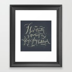 His Truth Is Marching On Framed Art Print