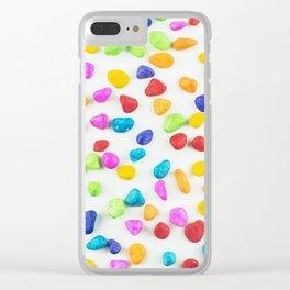 Rainbow rocks Clear iPhone Case