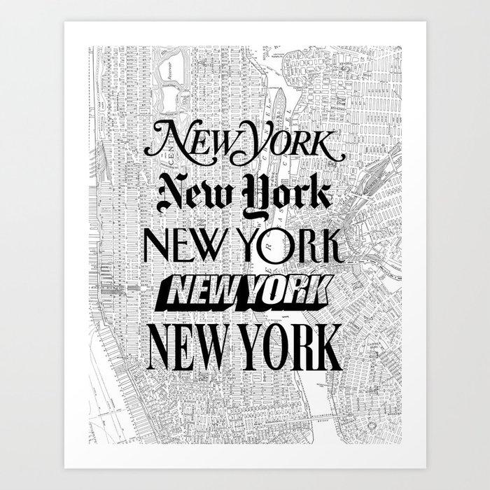 New York City Black And White New York Poster I Love Heart Nyc