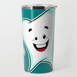 Dental Care happy Tooth with Toothbush Travel Mug