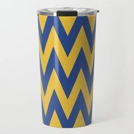 Team Spirit Blue and Gold Travel Mug