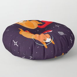 Space Foxes Floor Pillow