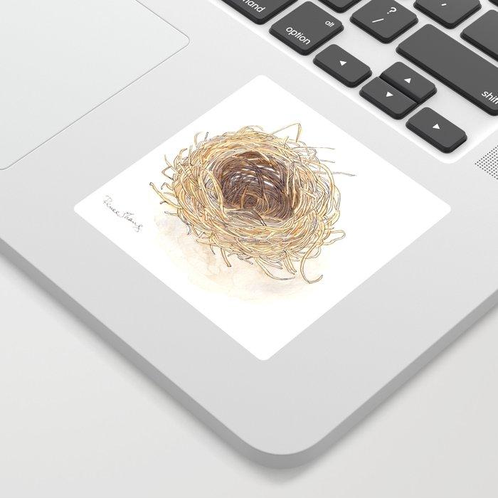 A Bird's Nest Sticker