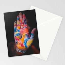 Colored hand Stationery Cards