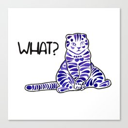 Watercolor Art | Lazy Cat Canvas Print