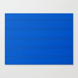 Blue wood timber wall texture Canvas Print