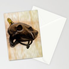 Bear Skull Stationery Cards