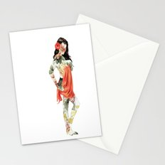 Floral Pin Up Girl Stationery Cards