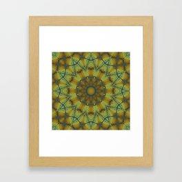 Jewelled Sunflower Splendor Framed Art Print