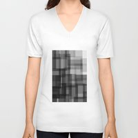 pixel V-neck T-shirts featuring PIXEL by aurelien vassal