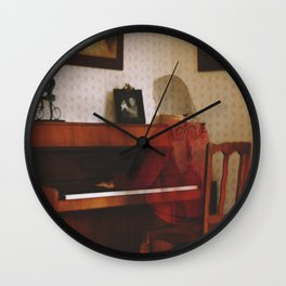 Piano lesson Wall Clock