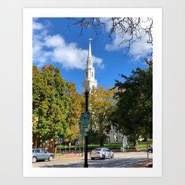 Church Spires in Providence 1 Art Print