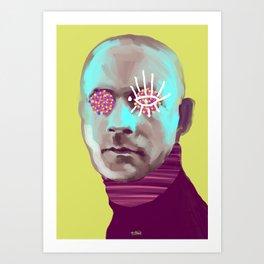 Contemporary Damien, POP art style, digitally painted Art Print