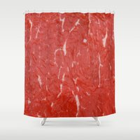 nietzsche Shower Curtains featuring Carnivore by pixel404