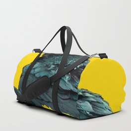 TWO CROW/RAVEN BIRD PORTRAITS & SUNFLOWERS GOLD  ART Duffle Bag