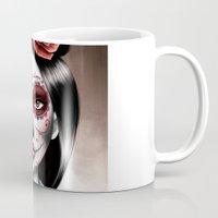 mulan Mugs featuring Mulan Sugarskull by NikkiBeth