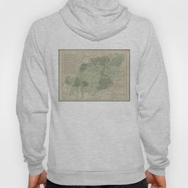 Vintage White Mountains New Hampshire Map (1915) Hoody