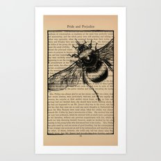 Pride & Prejudice, Page 51: Bumble Bee Art Print