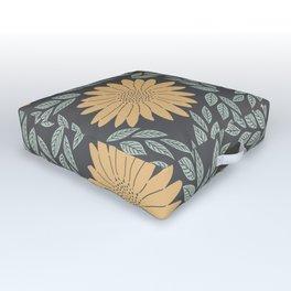 Autumn Flowers Outdoor Floor Cushion