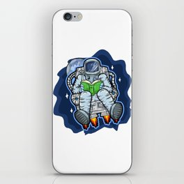 Astronaut Reads A Book In Space iPhone Skin