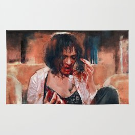 Adrenaline Shot - Mia Wallace - Pulp Fiction Rug