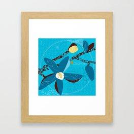 Blue Saucer Magnolia Framed Art Print